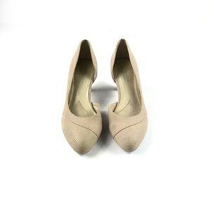 Naturalizer Women's Tan Pointy Toe Mini Heel